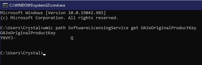 So stellen Sie Ihren Windows 10 Product Key Cmd wieder her