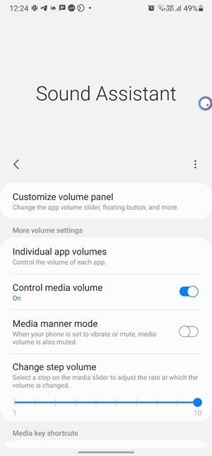 Sound-Assistent für die Android-Lautstärkeregelung