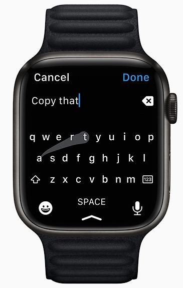 Apple Watch Flicktype Quickpath