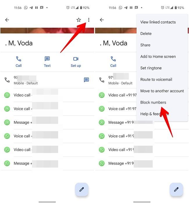 Nummer sperren Android-Telefon-App