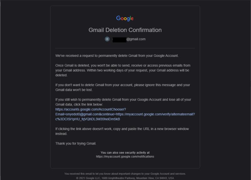 So löschen Sie Google Mail Klicken Sie auf Link löschen