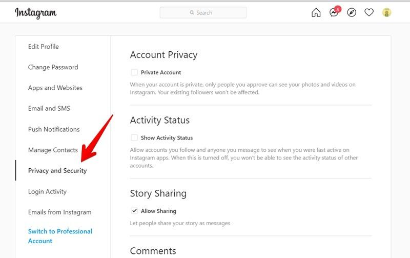 Datenschutz und Sicherheit des Instagram-Kontos