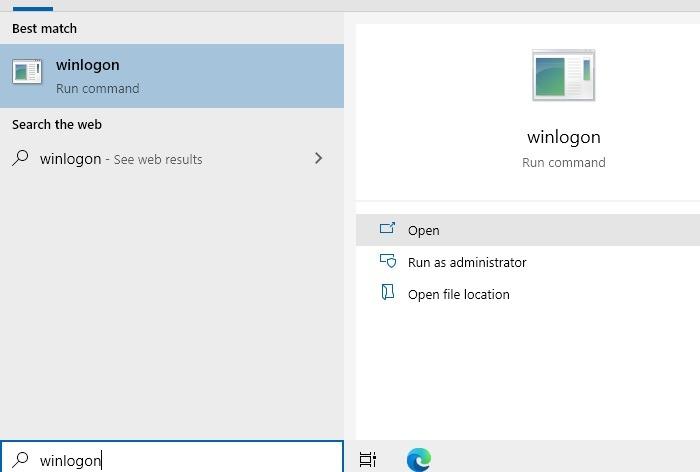 Screenshot Windows-Anmeldung Winlogon