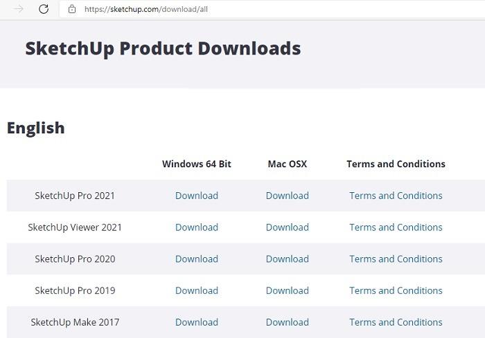 Sketchup-Downloads