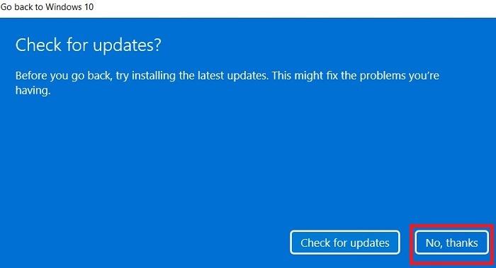 Windows11 Rollback auf Windows10-Updates überprüfen