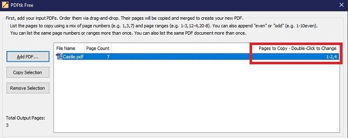 4. Wiederholen Sie den Vorgang, um die Datei in mehrere Teile aufzuteilen.