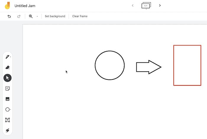 Die Google Jamboard-App.
