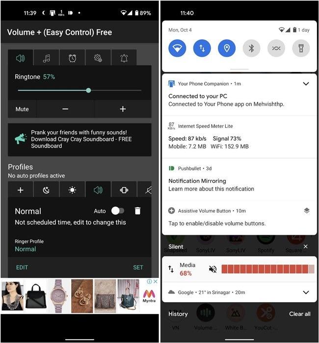 Android-App zur Lautstärkeregelung einfach