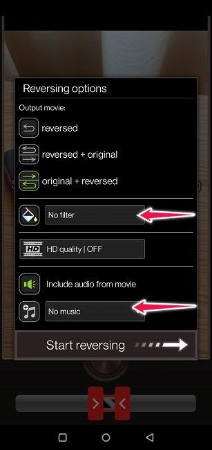 Erstellen Sie Boomerang-Videos Reverse Reverse-Optionen