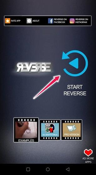 Boomerang-Videos erstellen Reverse-Start-Clip