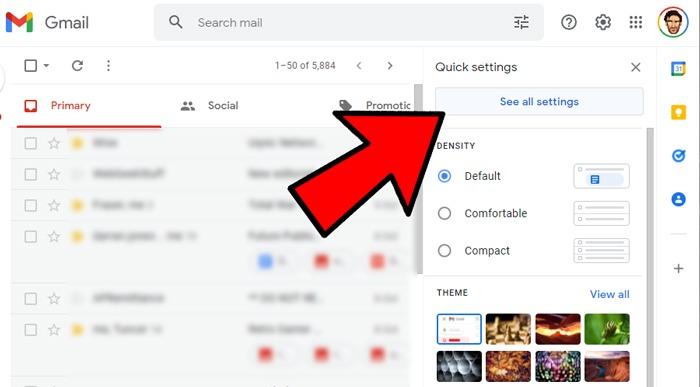 Gmail Desktop-App erstellen Alle Einstellungen anzeigen