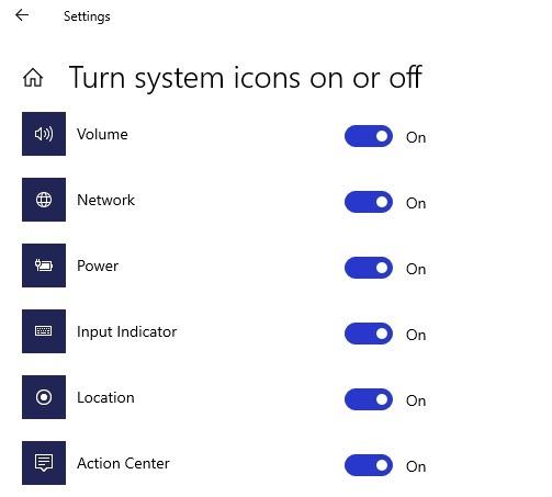 Verstehen, dass Ihr Standort derzeit in Windows 10-Taskleistensymbolen verwendet wird