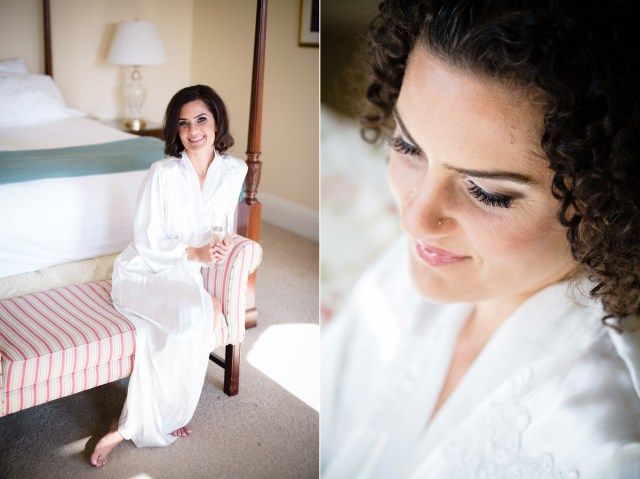 Bridal hair and makeup at Cranwell Resort in the Berkshires
