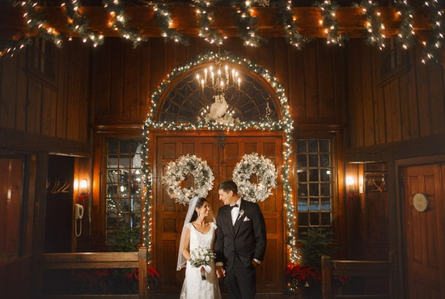 Bridal makeup for Lindsay's Christmas wedding at Publick House Historic Inn