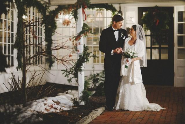 Bridal makeup for Lindsay's Christmas wedding at Publick House Historic Inn