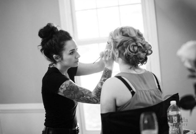 Bridal makeup for Beth's elegant Omni Hotel wedding in Providence, RI