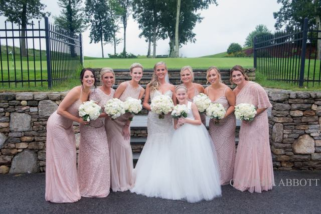 Bridal hair and makeup for Ashley's Highfields Golf & Country Club wedding