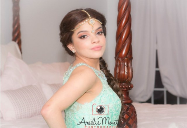 Quinceañera Hair and Makeup, Aladdin-themed