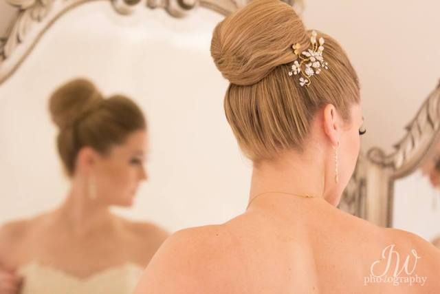 Wedding hair by Chelsea for Christy & Co.