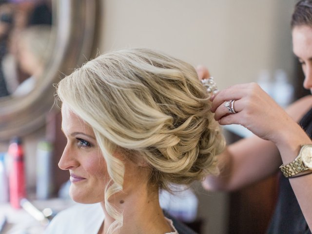 Timeless bridal beauty hair and makeup for Sandra's wedding at Harrington Farm in Princeton, MA