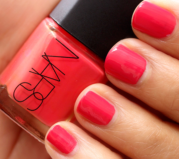 NARS Shameless Red Nail Polish, a bright pink