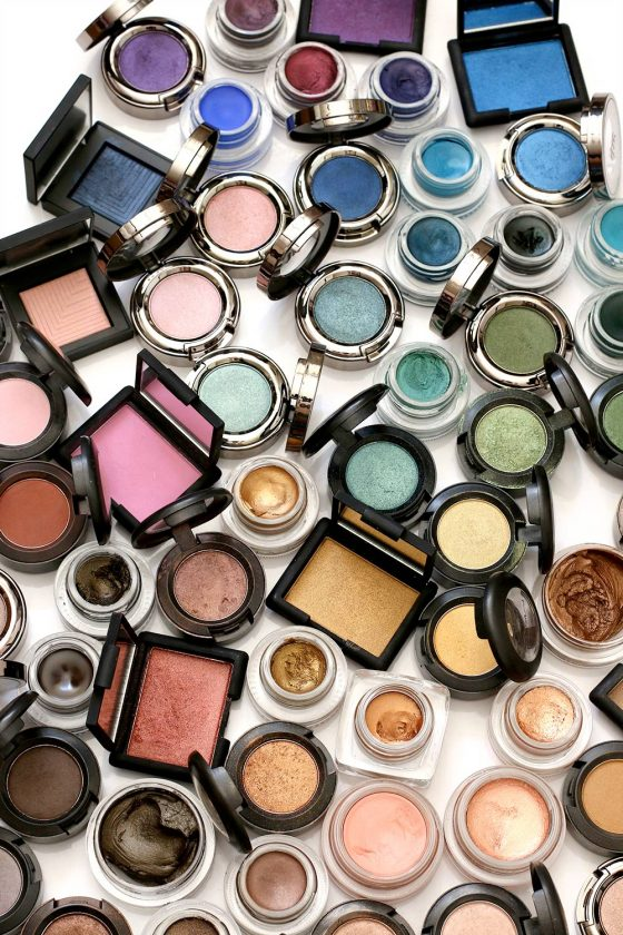 rainbow of eye products