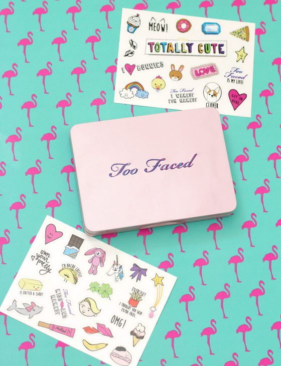too faced totally cute stickers