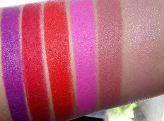 mac shadescents lipsticks swatches