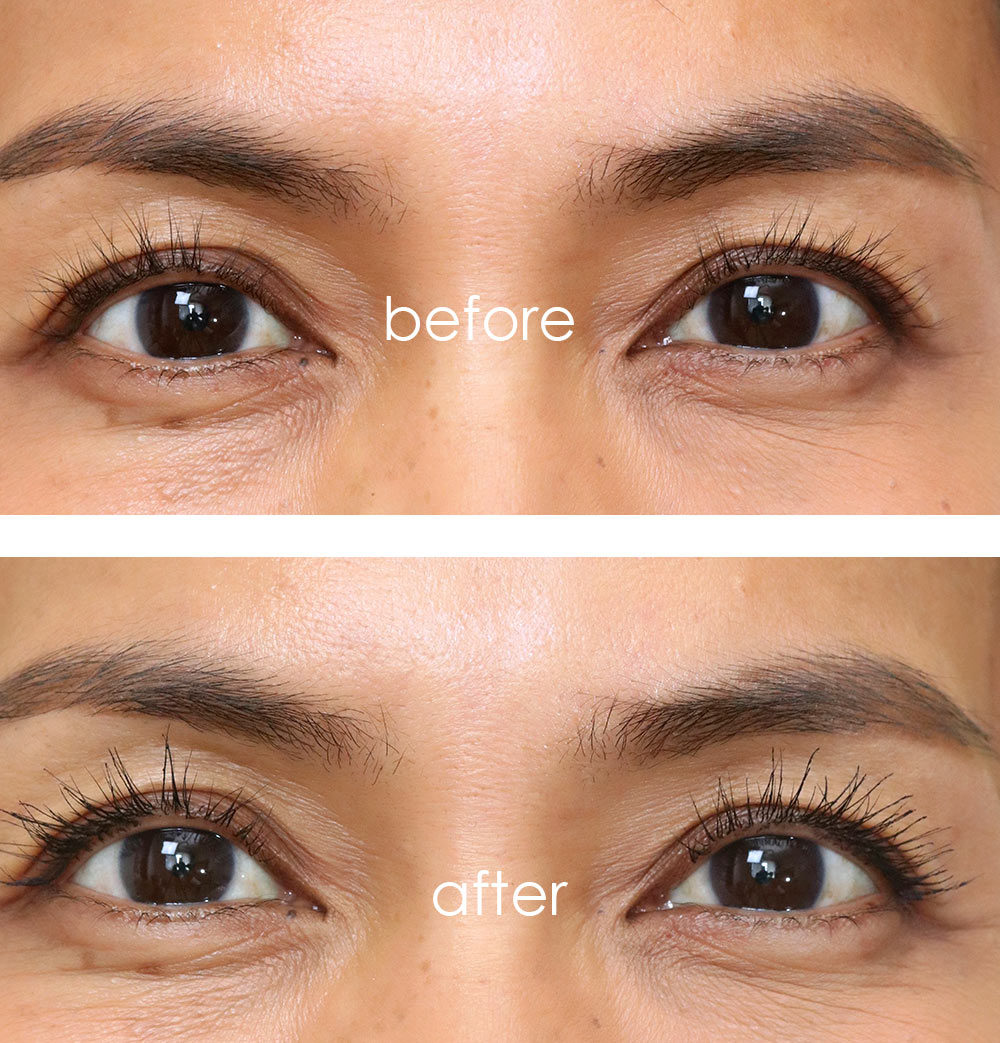 it cosmetics drybar lash blow out mascara before after