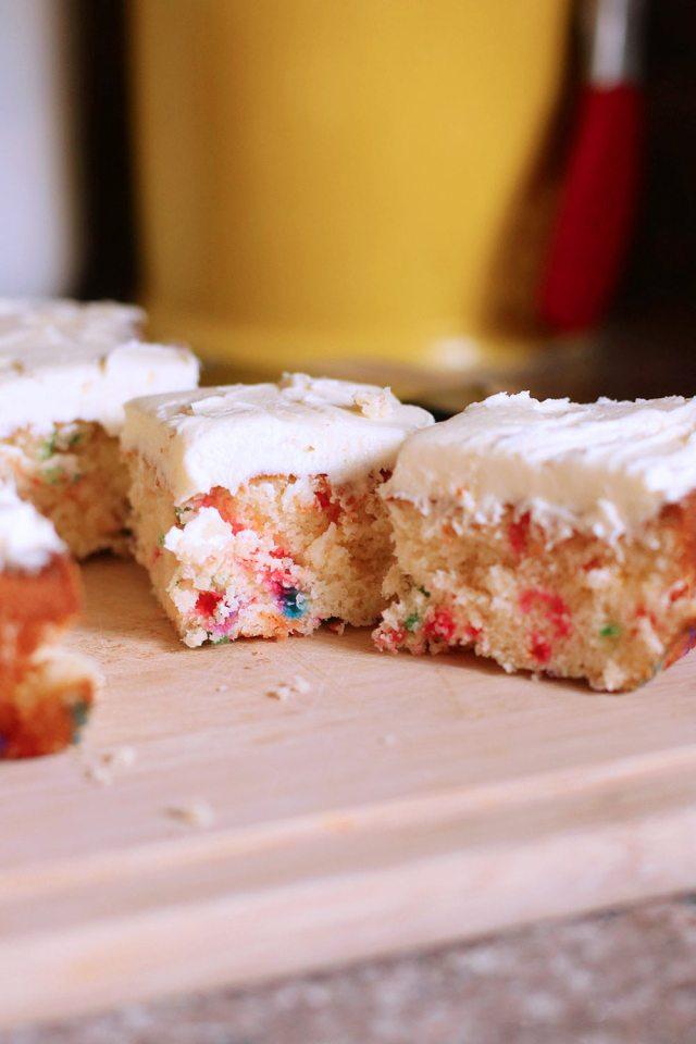 baked sprinkle cake