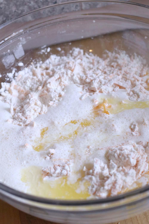 gluten free cheddar garlic biscuit recipe add wet