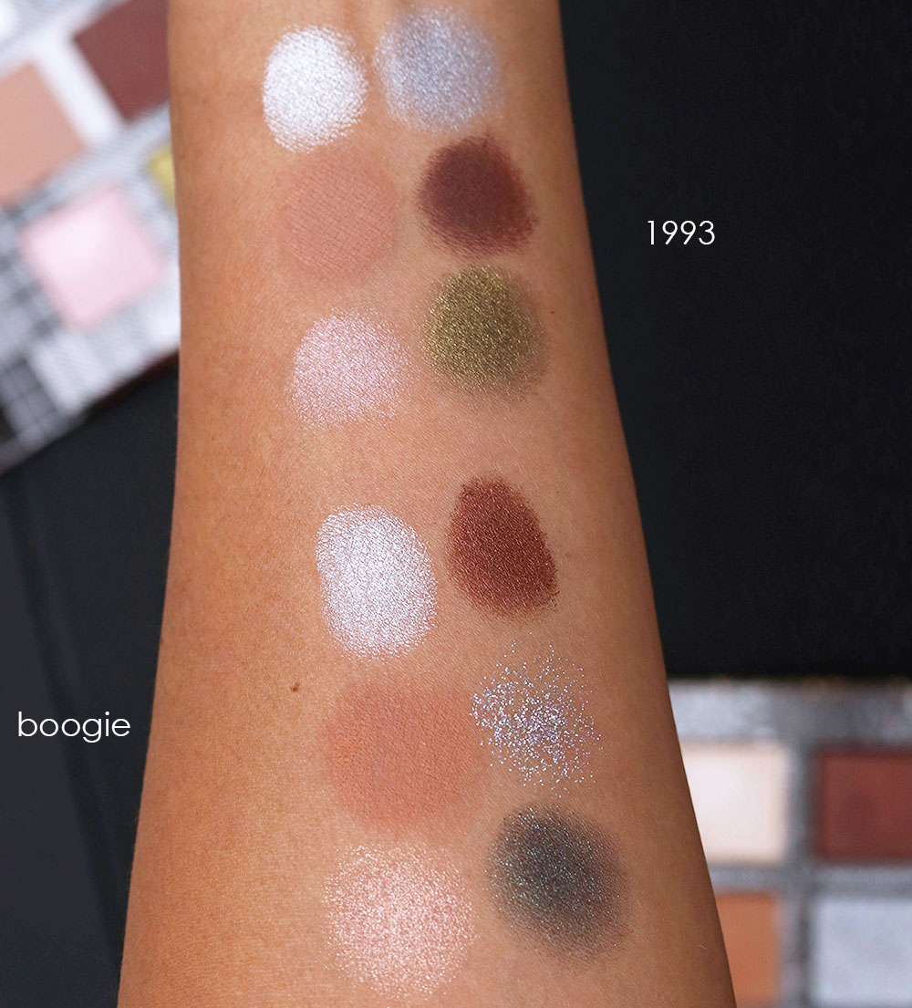 urban decay 1993 boogie swatches