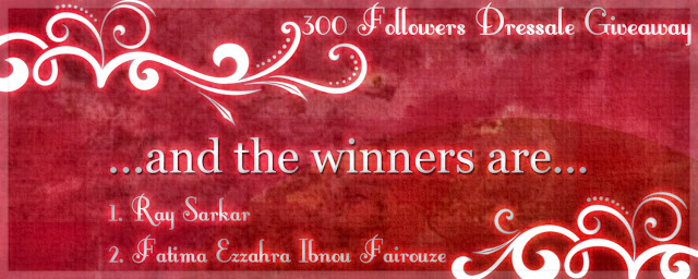 300+ Followers Dressale Giveaway Winners announced!!!