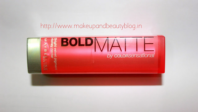 Maybelline Colorsensational Bold Matte Review, Swatches & LOTD: Mat 2 Coral 326