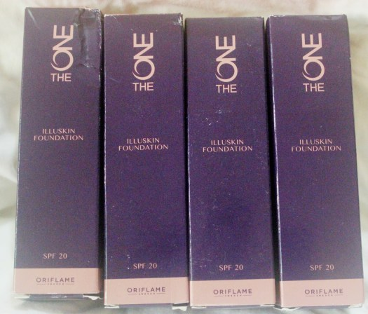 Oriflame The One Illuskin Foundation SPF 20- shade (Olive Beige , Natural Beige, Porcelain, Nude Pink) Review, Swatches & FOTD