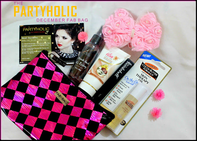 THE PARTYHOLIC DECEMBER 2016 FAB BAG