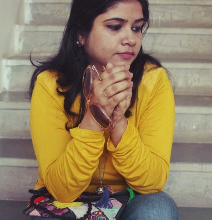 OOTD: Mustard+Denim+Ethnic