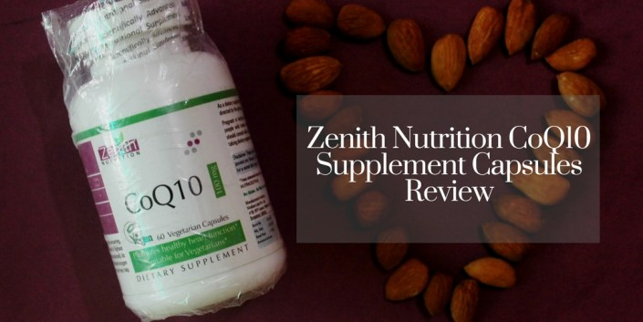 Zenith Nutrition CoQ10 Supplement Capsules Review