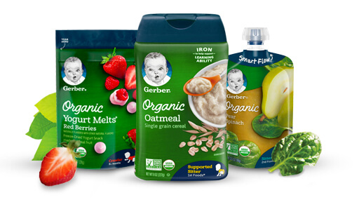 Why Choose Healthy and Organic Food for Kids- Gerber Organic Snacks