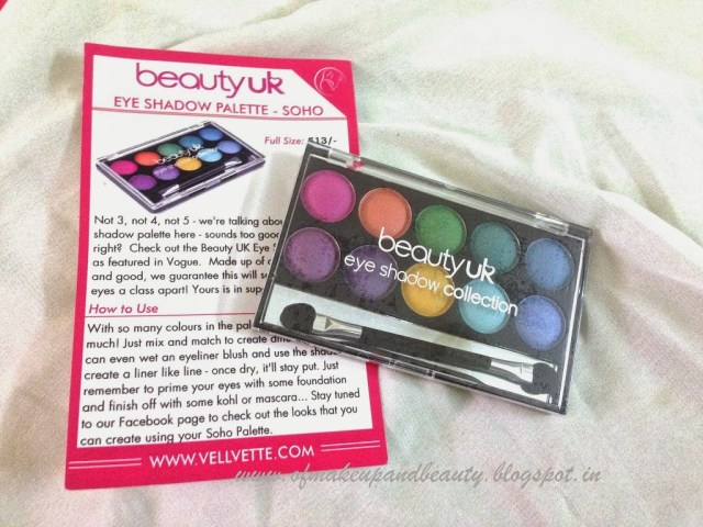 Beauty UK Eye Shadow Palette – Soho