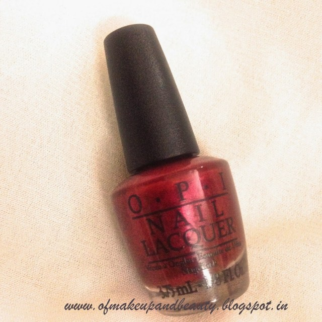 "OPI Nail Lacquer, ""I Am Not Really A Waitress"" - NOTD and Review"