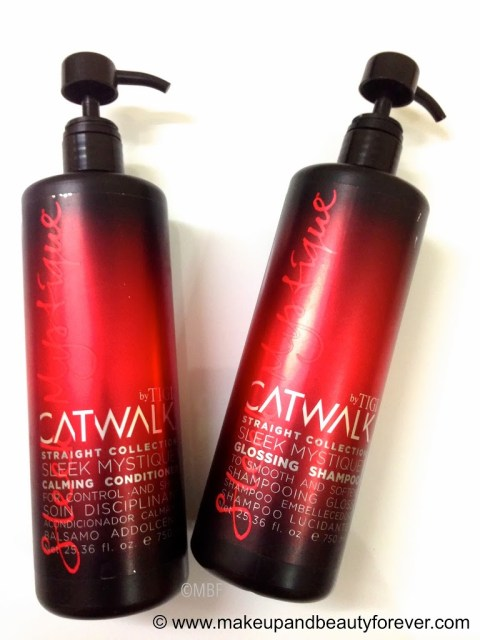 TIGI Catwalk Sleek Mystique Glossing Shampoo and Tigi Catwalk Sleek Mystique Calming Conditioner