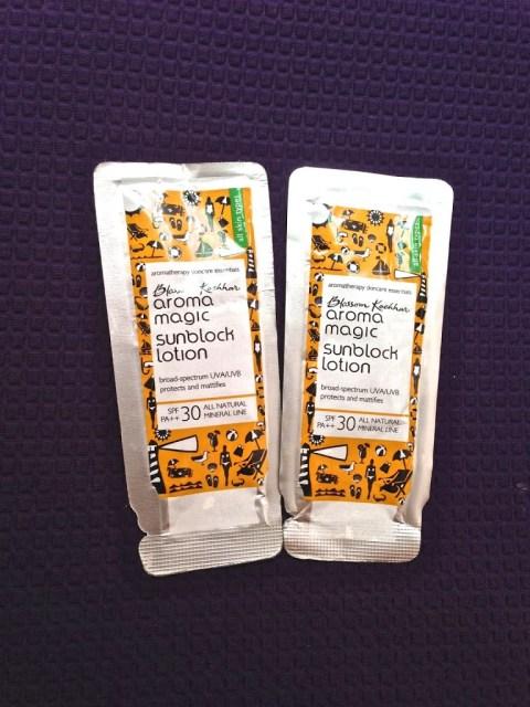 Aroma Magic Sunblock Lotion and ABC 6 in 1 Charcoal Face pack makeupandbeauty