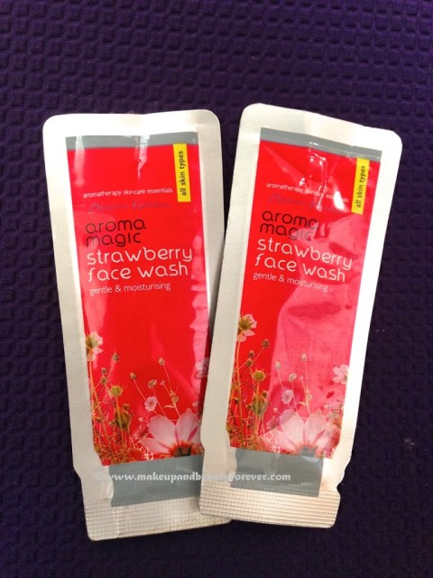 Aroma Magic Strawberry Face Wash and White tea and Chamomile Face Wash
