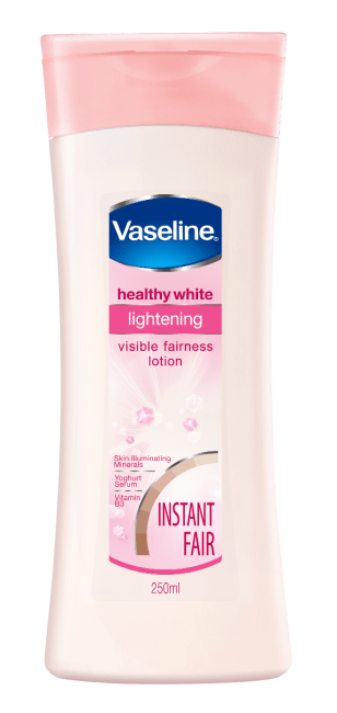 Vaseline healthy white lightening visible fairness lotion