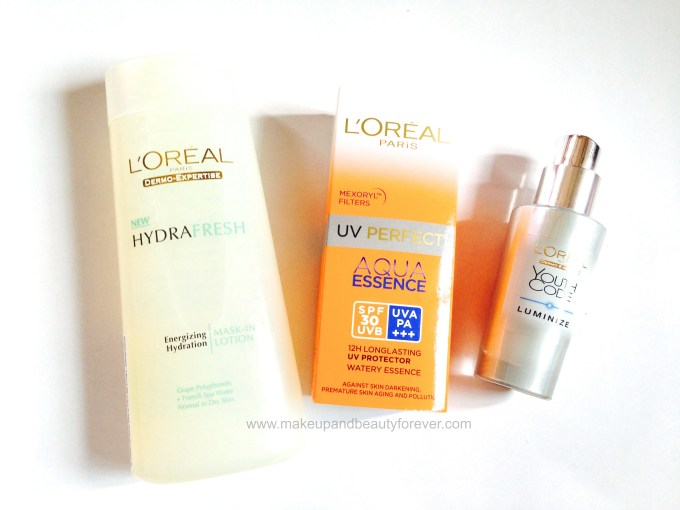 L'Oreal Paris skin care Products in India