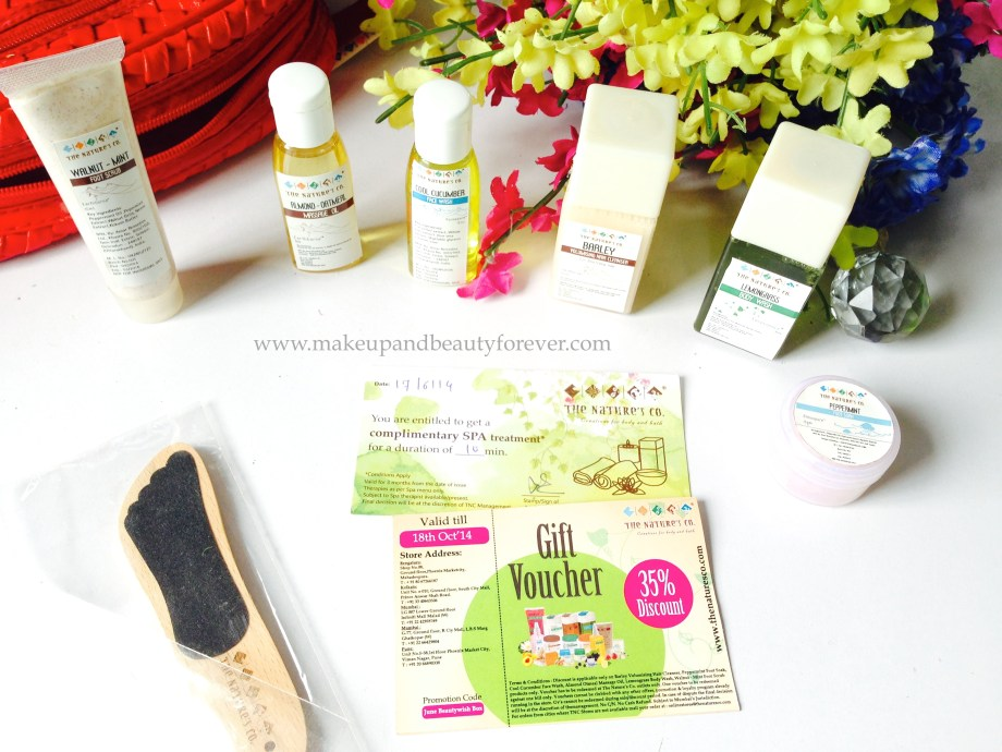 Beauty Wish Box by The Nature's Co.  june 2014