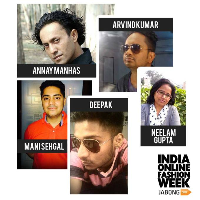 the 5 Finalists in the Hair Styling Category for Jabong India Online Fashion Week