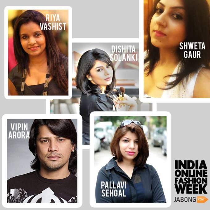 the 5 Makeup Artists, selected for Jabong's India Online Fashion Week