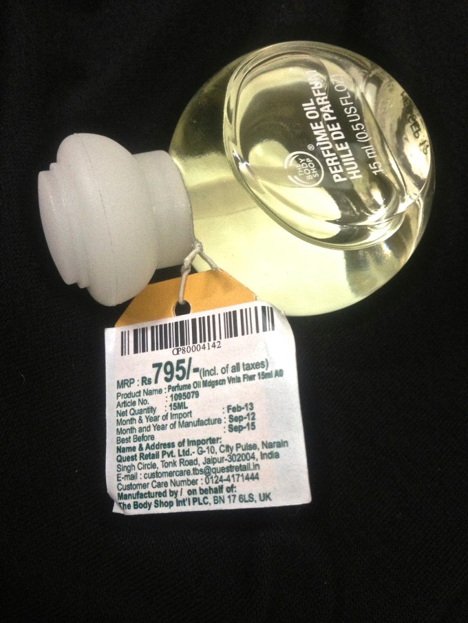 The Body Shop Madagascan Vanilla Flower Perfume Oil Review